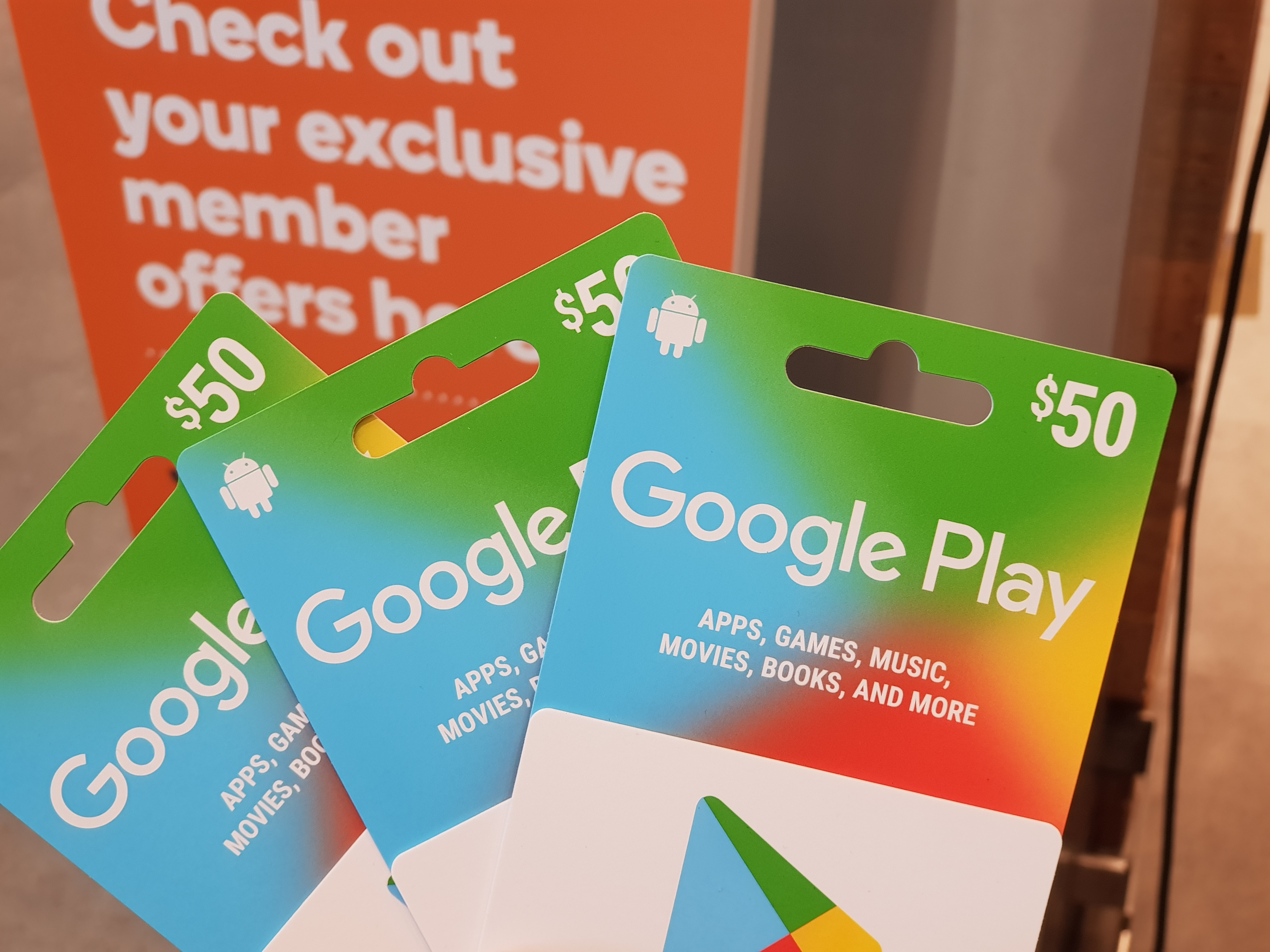 Gift Card Woolworths 2000 10 Woolworths Rewards Per 50 Google Play Gift Card Til 11