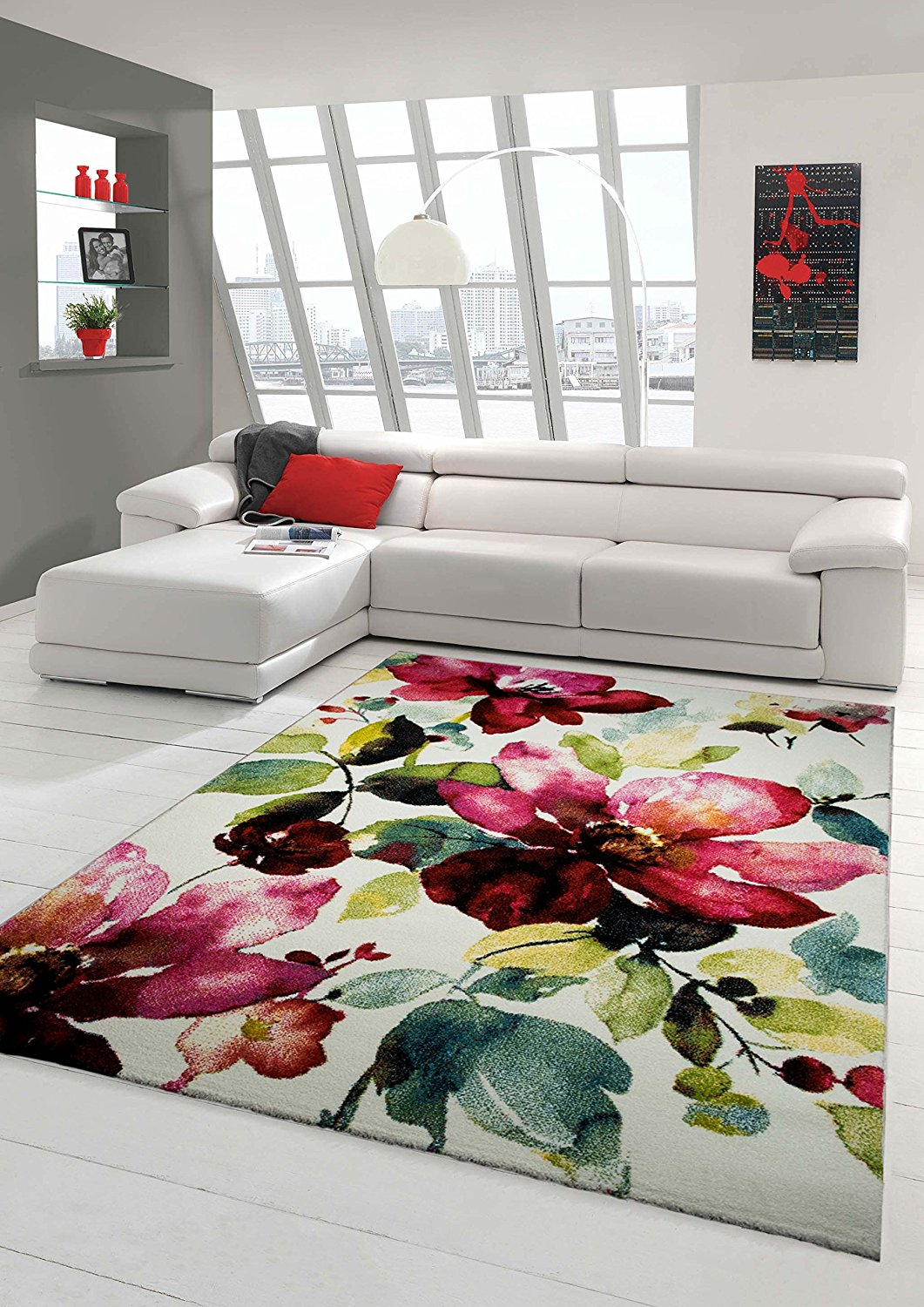 Tapis Salon Coloré Tapis Pas Cher Design Et Contemporain Grand Tapis Salon