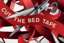 red tape cut