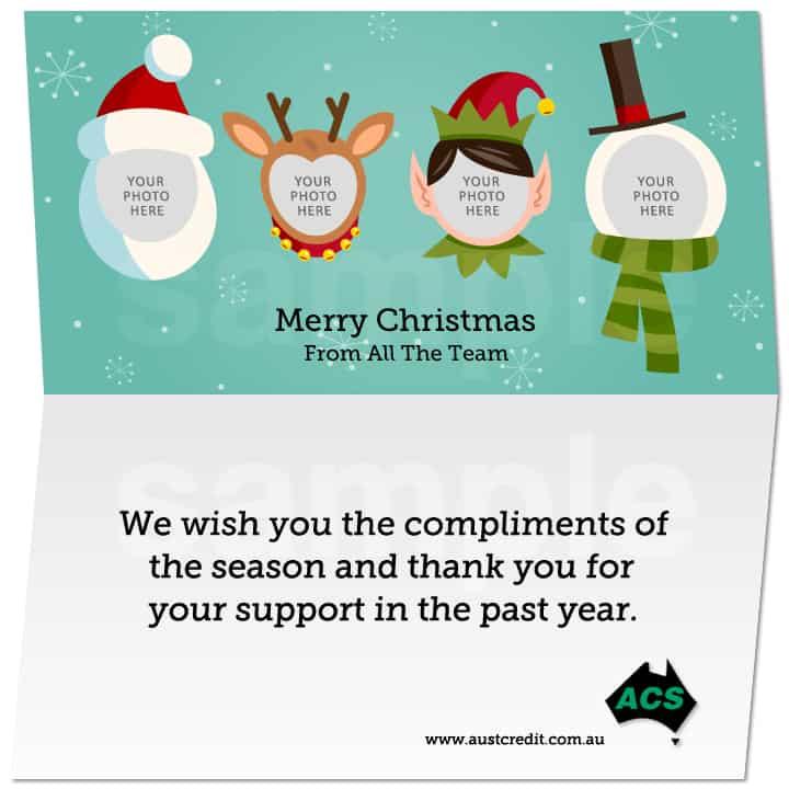 Static Christmas e-Cards Australian Christmas Cards