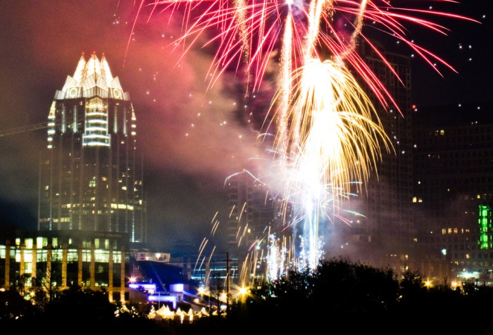 austin new year fireworks july 4th independence day celebration party lights show display