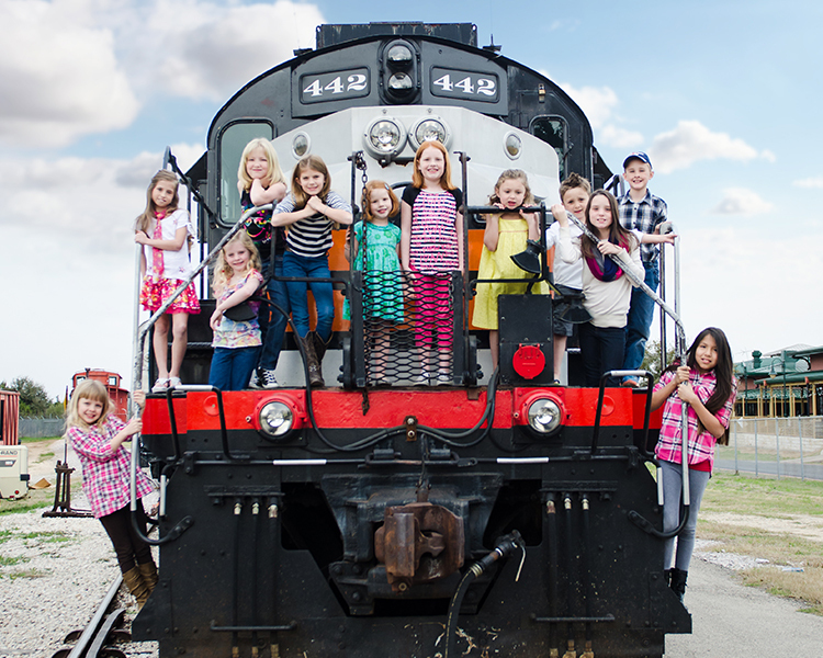 <I>The Hill Country Flyer, courtesy of AustinSteamTrain.org.</I>