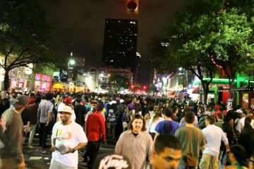 Austin's famous Sixth Street party district. Screenshot via Youtube.