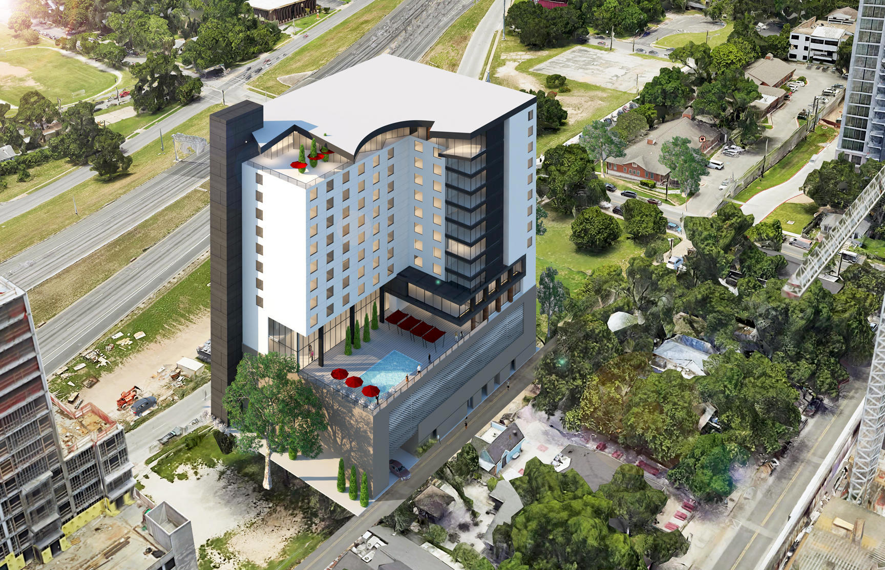 Garage Racks Austin Two New Hotels Headed For East Avenue In The Rainey Street