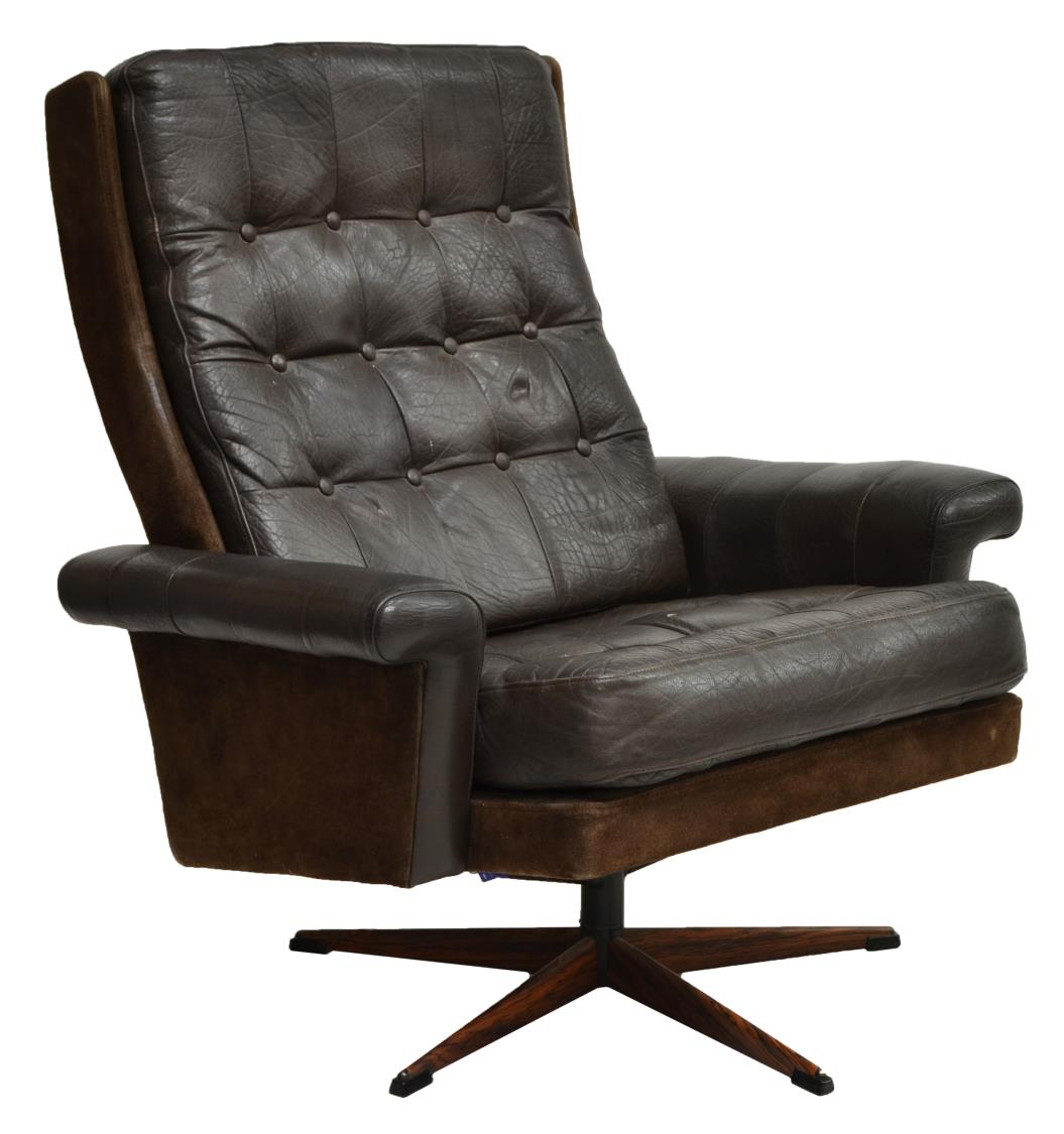 Danish Modern Leather Chair Danish Mid Century Modern Leather Swivel Chair March