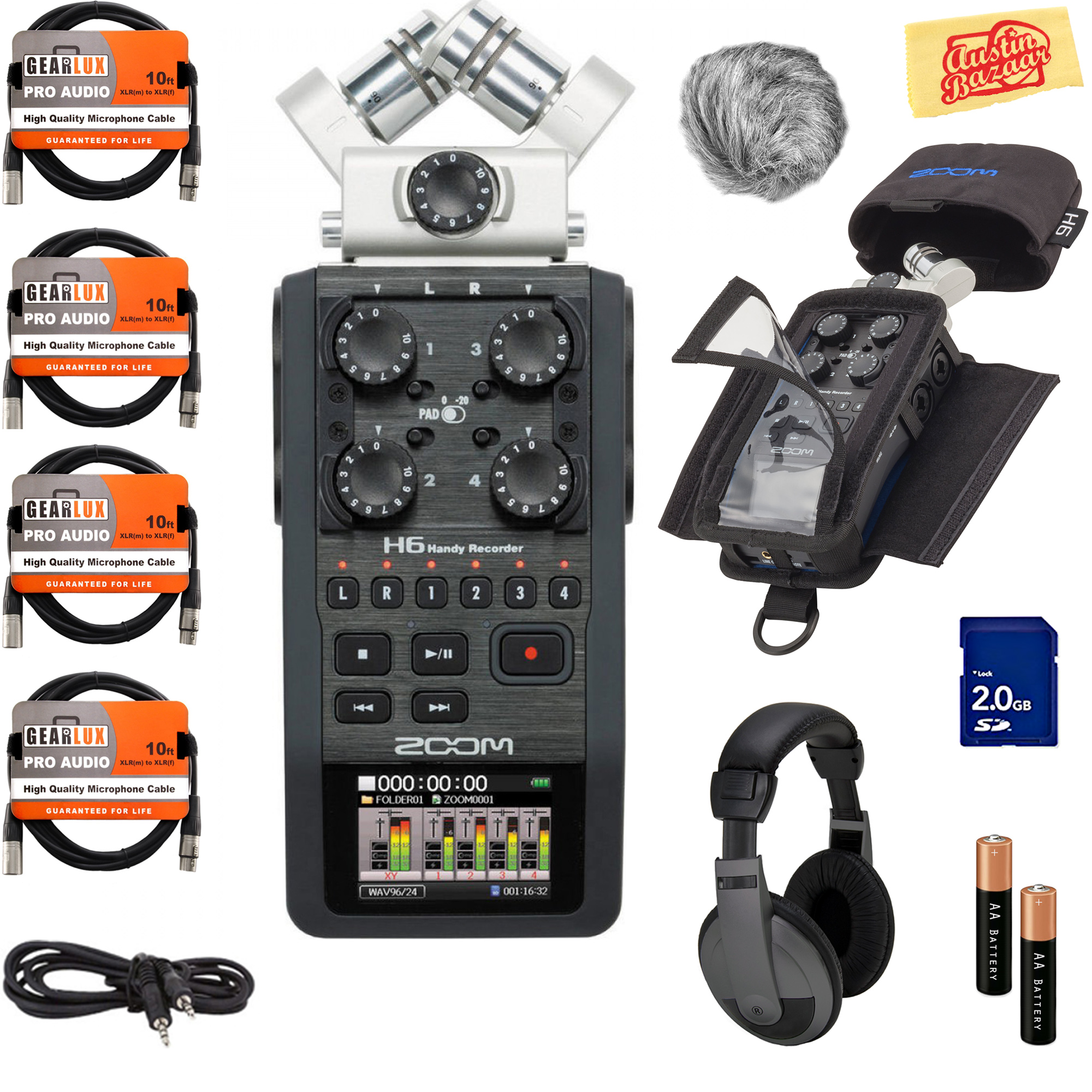 Zoom H6 Recorder Details About Zoom H6 Handy Recorder W Headphones