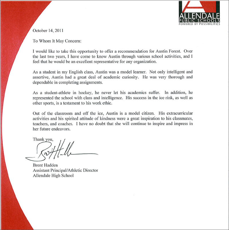 Recommendation Letter For Scholarship From Principal Scholarship