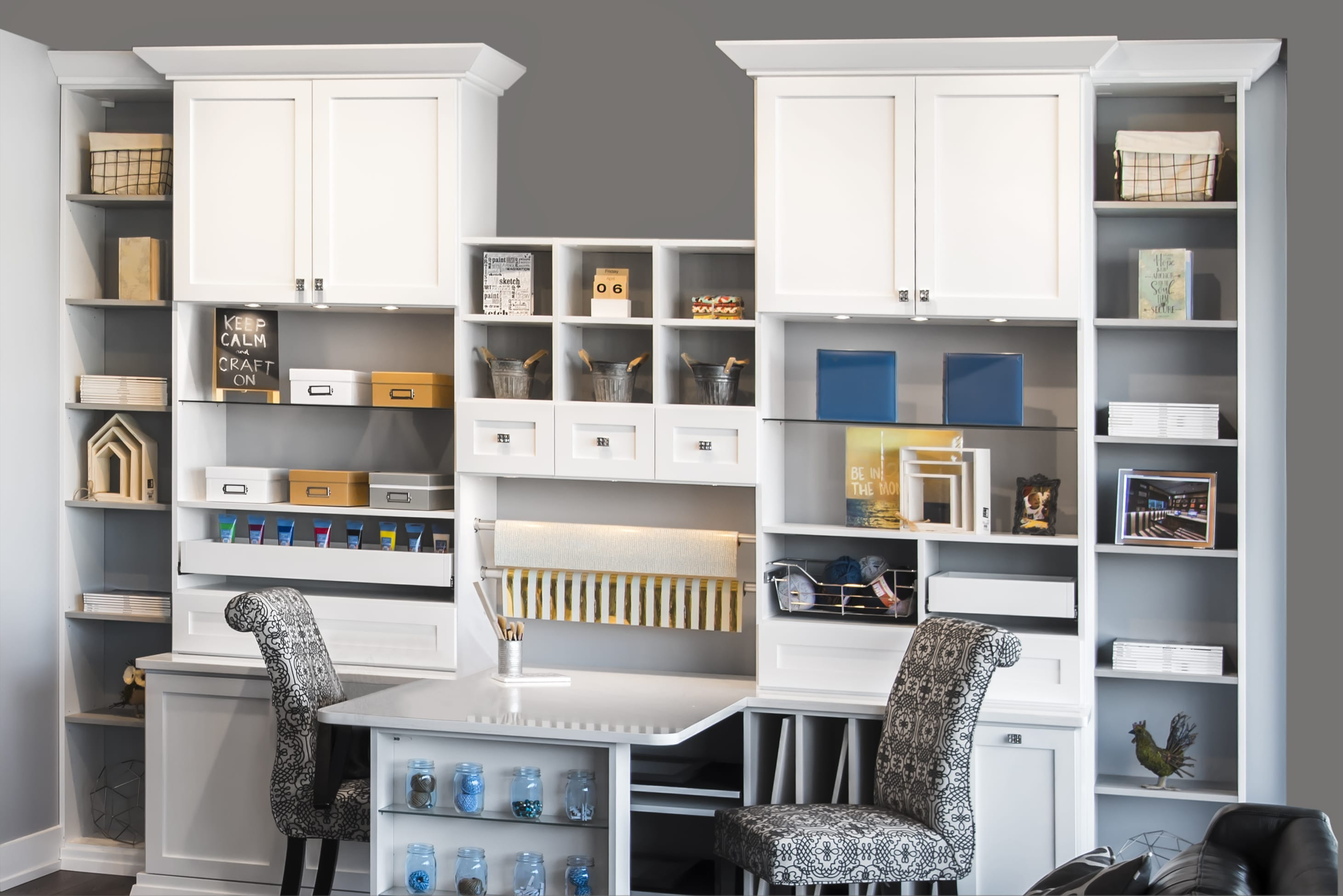 Home Office Cabinets Craft Center Or Home Office Cabinets Austin Morgan Closets