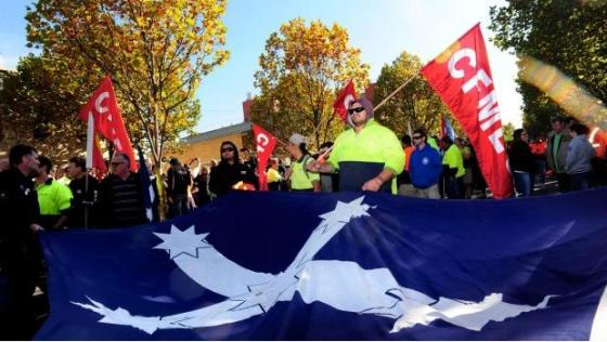 Eureka Flag hijacked by Union Movement