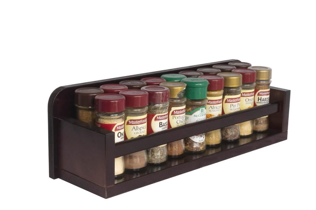 Spice Rack Gift. Wooden Spice Rack Open Top 1 Tier Wooden