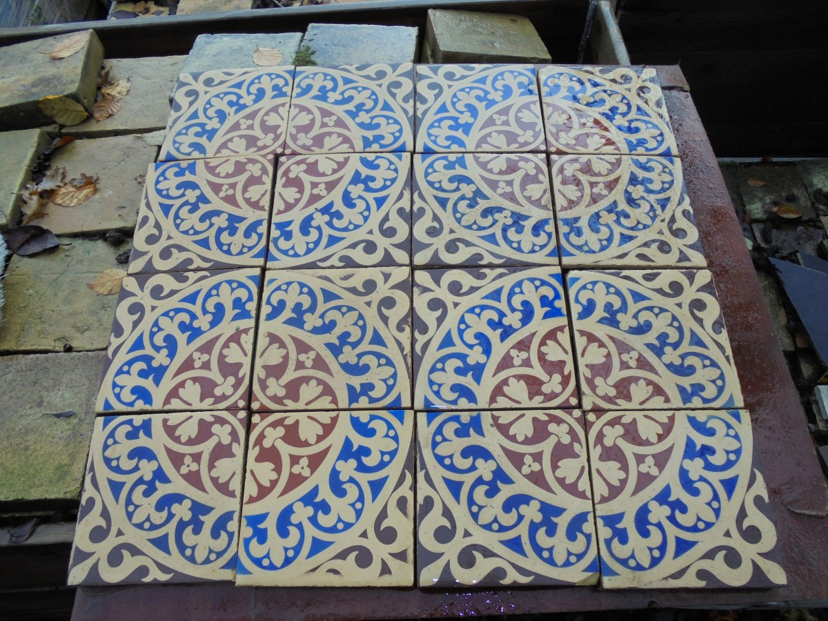 Soothing Patterndisplayed A Reclaimed Mosaic Se Tiles Fit Toger Y Would Make A Porch Or Bathroom Reclaimed Mosaic Tile Auntic Reclamation houzz-02 Mosaic Floor Tile