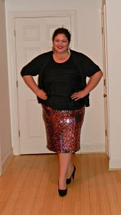 Gwynnie Bee Review - Sequin Pencil Skirt