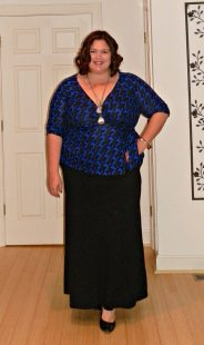 plus size houndstooth top