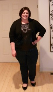 Karen Kane Sequin Tee and Cropped Cardigan