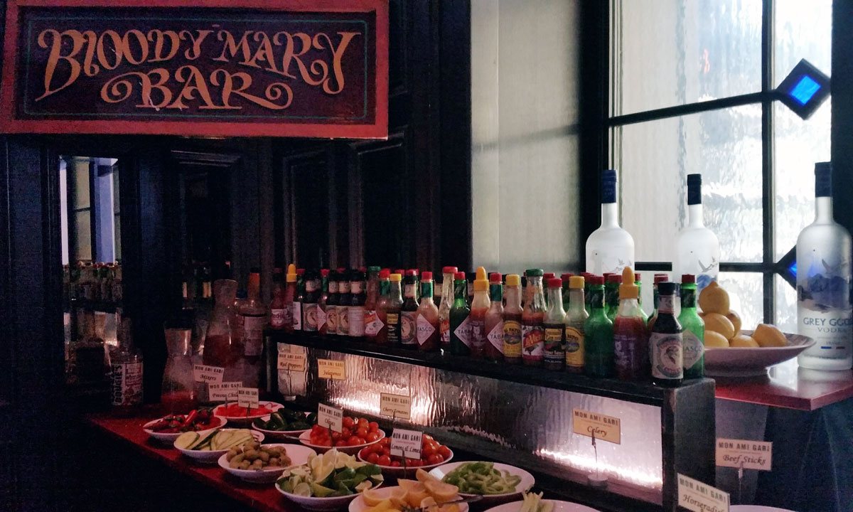 Las Vegas Trip Recap from @emilyjoanho - Mon Ami Gabi Bloody Mary Bar