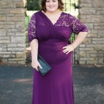 Plum Lace Gown + Kiyonna Sale