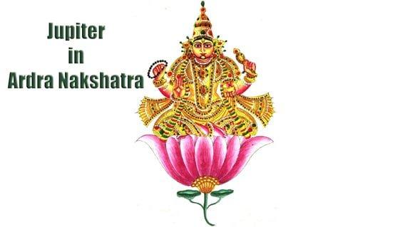 Jupiter in Ardra Nakshatra