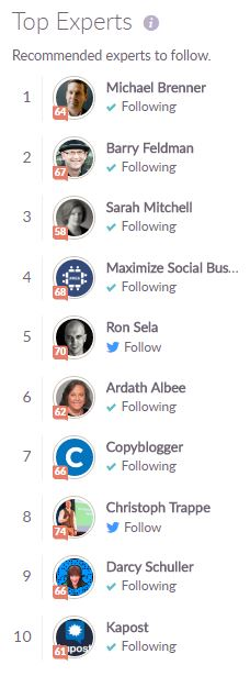 top experts in content marketing
