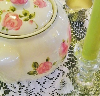 Pink Green candle
