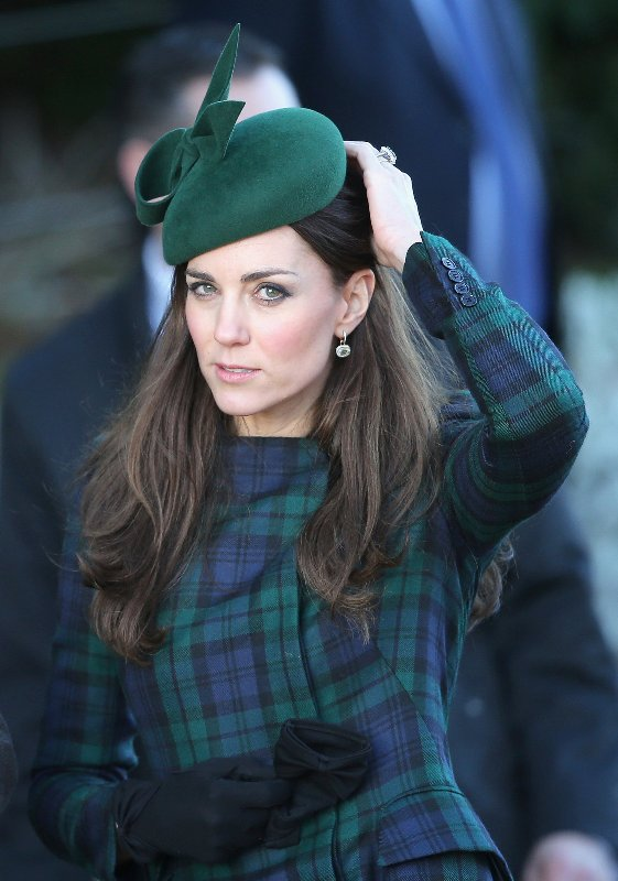 The Duchess of Cambridge arrives for the Christmas Day service at Sandringham on December 25, 2013 in King's Lynn, England. Source: Chris Jackson / Getty Images