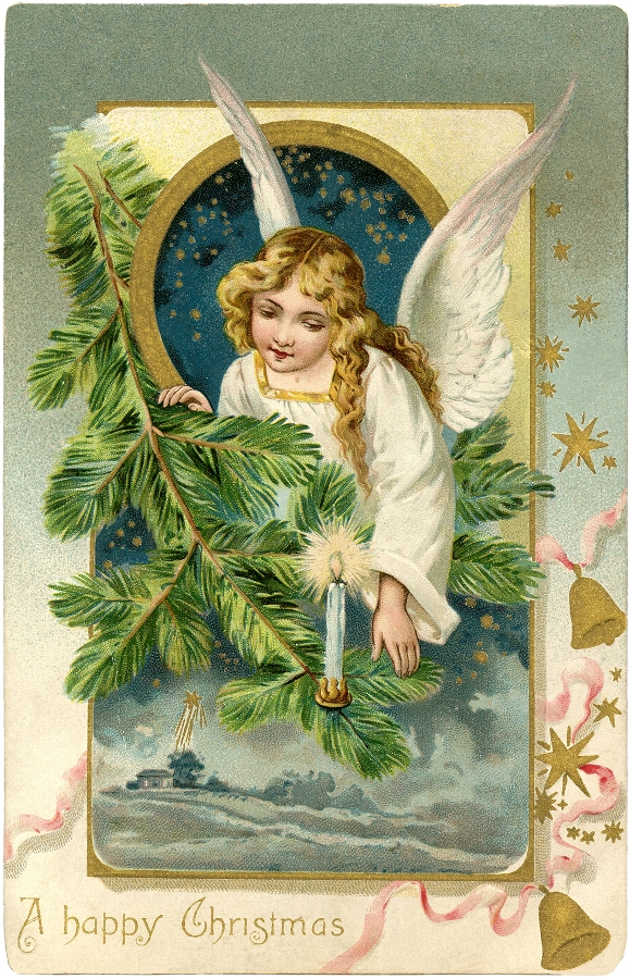 Christmas Angel / Source The Graphic's Fairy.com / Click Image for Full Size