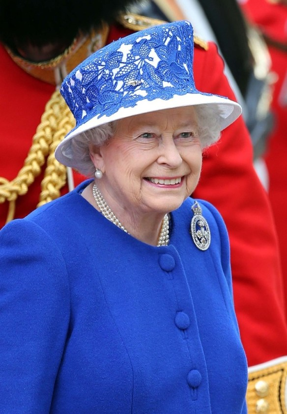 Queen Elizabeth attending the Trooping the Colour on June 15, 2013. / Source: Zimbo.com