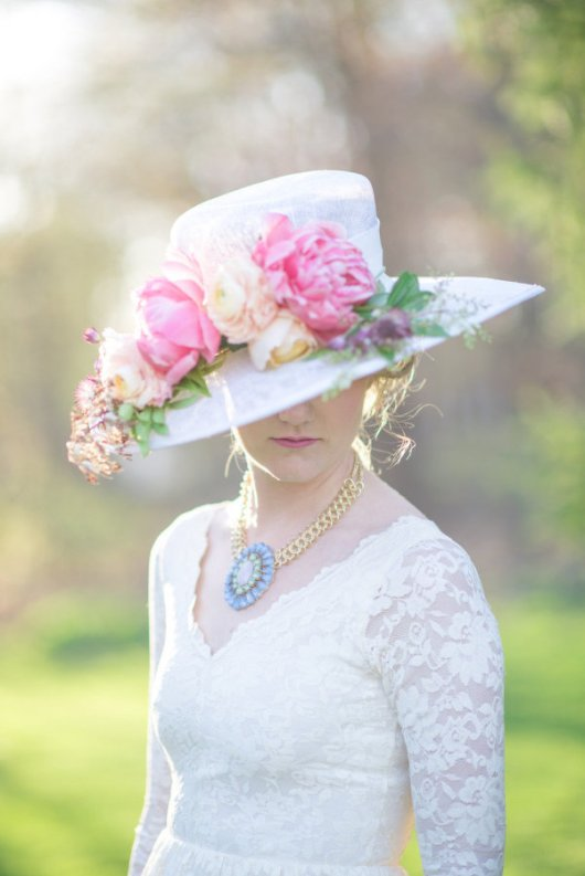 Kentucky Derby Inspired Hat. / Source: www.stylemepretty.com Cambria Grace Photography