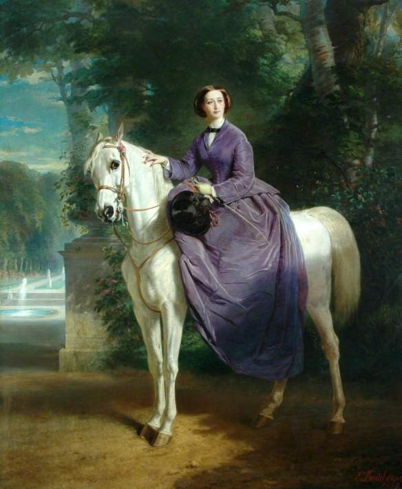Portrait of Empress Eugenie circa 1857, by Charles Edouard Boutibonne (1816–1897). / Source: www.artuk.org