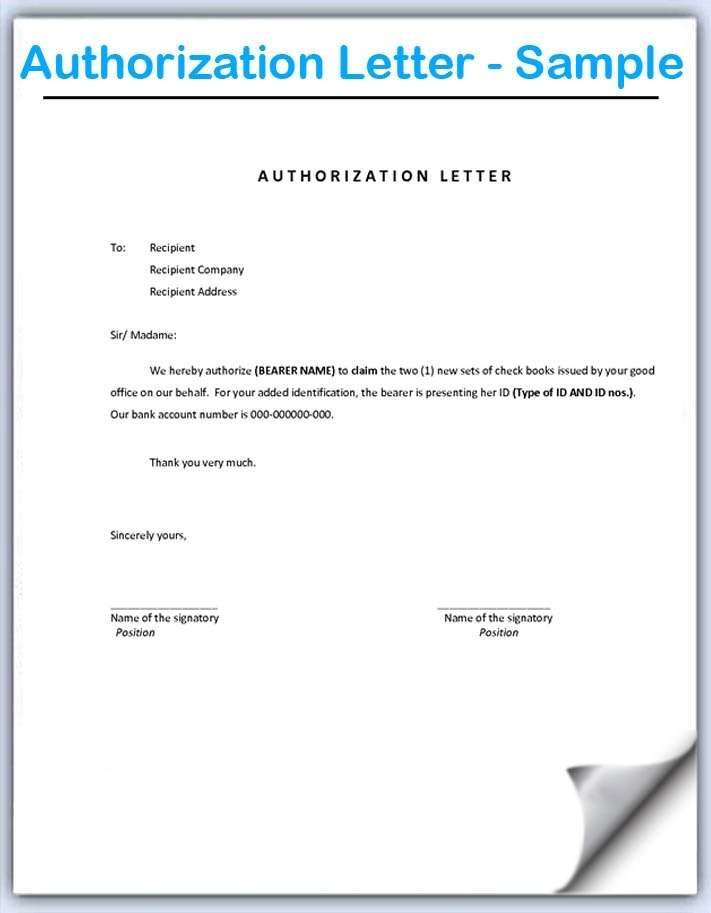 Authorization Letter Its all about How to write an Authorization