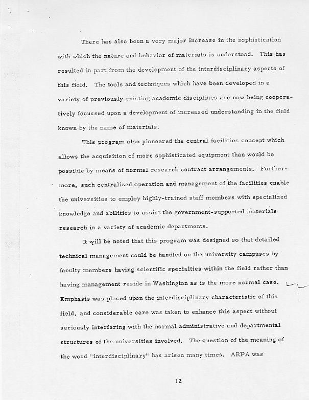 William O Baker\u0027s papers relating to materials research 1959-1972