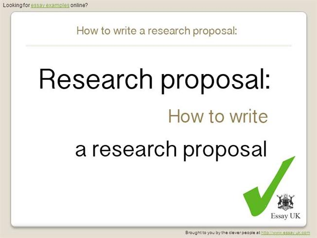 Essay Examples how to Write a Research ProposalauthorSTREAM - what is the research proposal