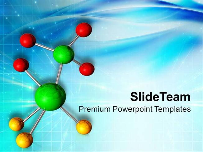 Elements of Molecule in Science Powerpoint Templates PPT Themes An - science presentation template