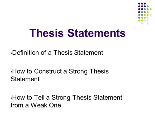writing strong thesis statements