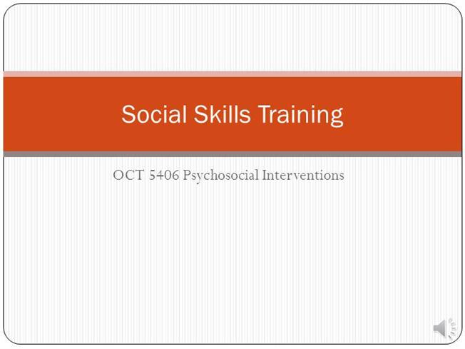 Voice Over Powerpoint- Social Skills TrainingauthorSTREAM