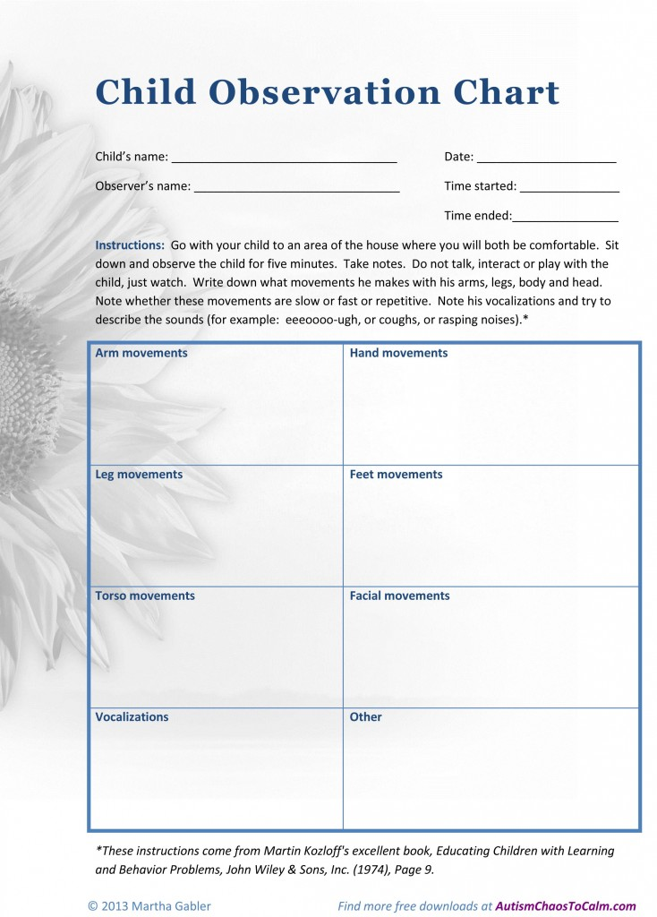 TAGteach How-To How to Observe Your Child with Autism \u2013 Autism