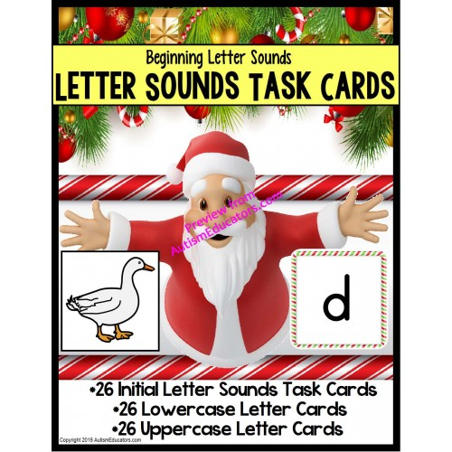 Santa Claus LETTER SOUNDS Task Cards for Christmas for Students
