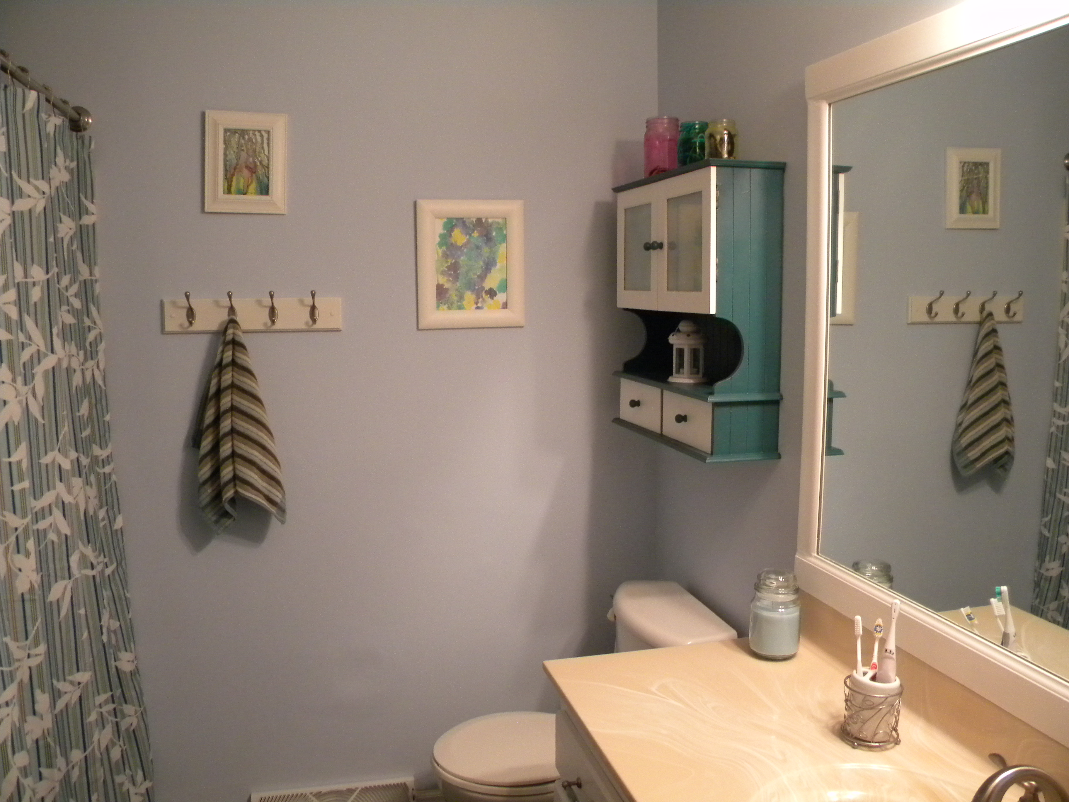 Adhesive Shower Curtain Rod Holders Bathroom Reno On A Budget Educare Homeschool
