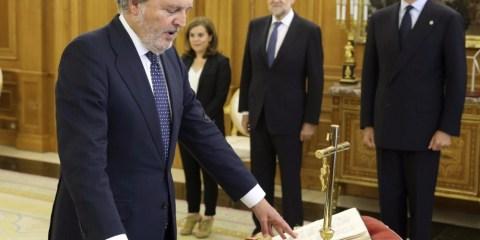 Íñigo Méndez de Vigo durante la toma de posesión del cargo de Ministro de Educación. Foto: Agencia