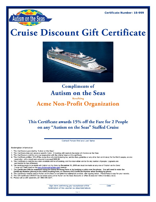Donation Request Form - Autism On The Seas - donation request form
