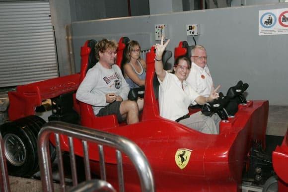 Schnellste Achterbahn in der Ferrari World