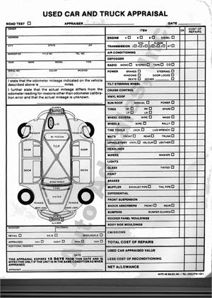automotive appraisal form 11 Ways On How To Prepare For