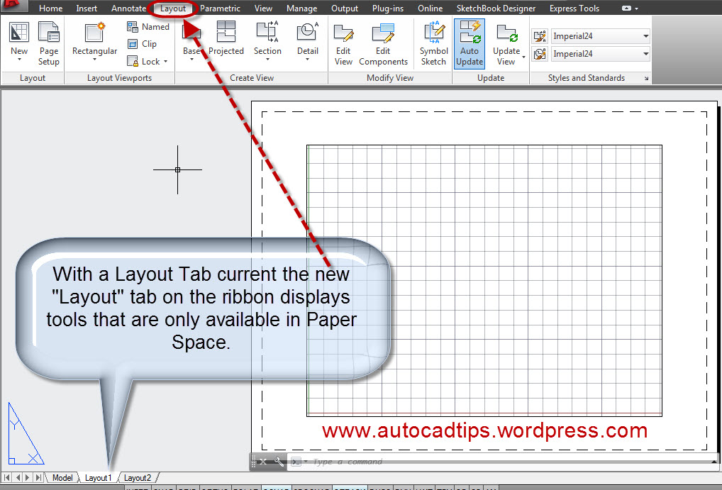 AutoCAD 2013 Paper Space Viewports AutoCAD Tips
