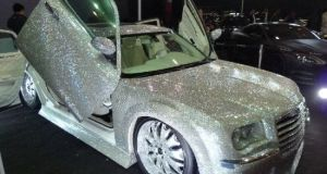 Chrysler 300C decked with innumerable plastic crystals  3
