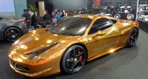Gold plated Ferrari 458 Italia