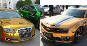 Gold plated cars in china