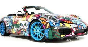 Romero Britto Porsche 911 art car