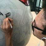 Humberto Ramos' Avengers Artwork on Acura TL  1