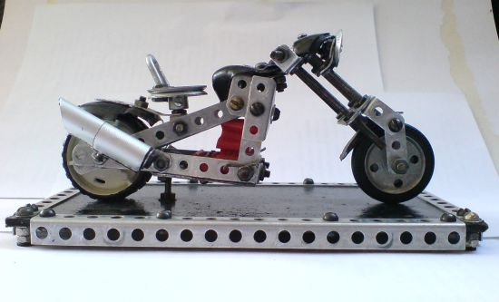 Scale souvenir motorbike models