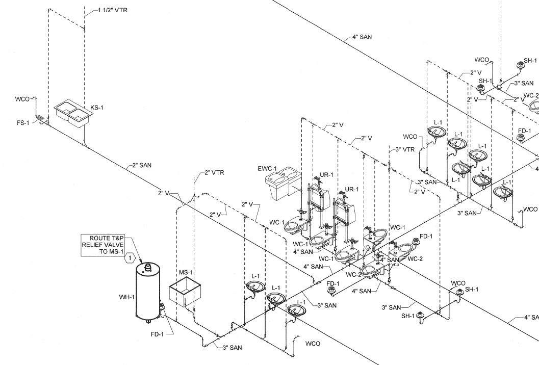 piping riser diagram in revit