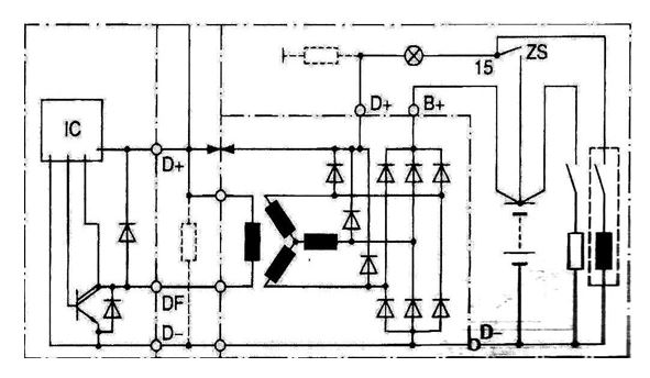 block wiring diagram with field instruments